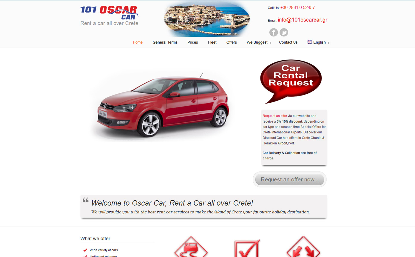 101 Oscar Car Website Project
