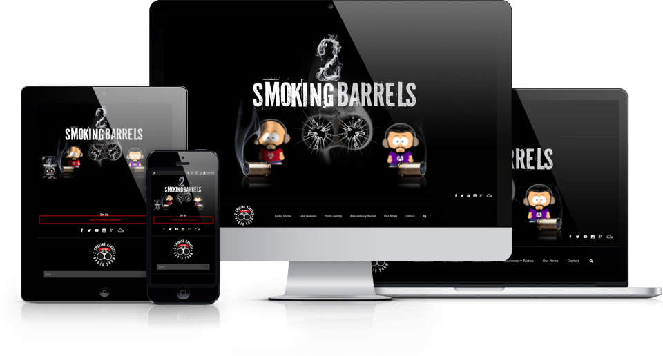 2 Smoking Barrels - Responsive